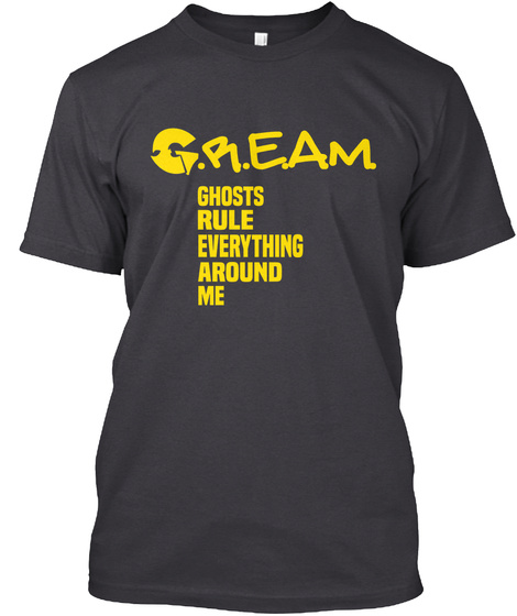 Hftp Ghost Cream Shirt Charcoal Black T-Shirt Front