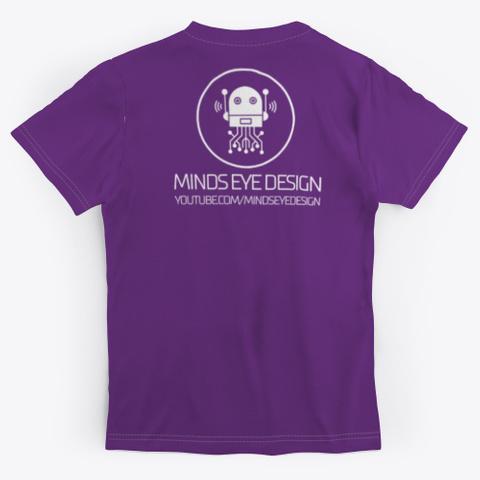Minds Eye In Gear V2 Unisex Teeshirt Purple T-Shirt Back