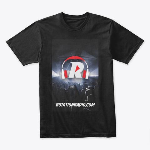 Rotationradio.Com Apparel  Black T-Shirt Front
