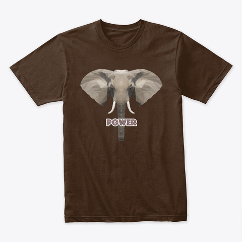 Polygon Art   Elephant Dark Chocolate T-Shirt Front