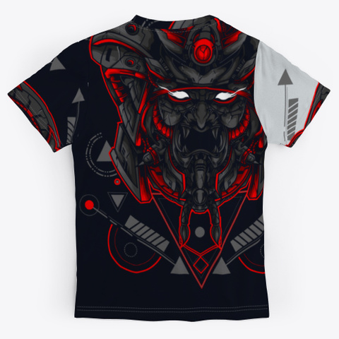 Kabuki Warrior Light Grey T-Shirt Back