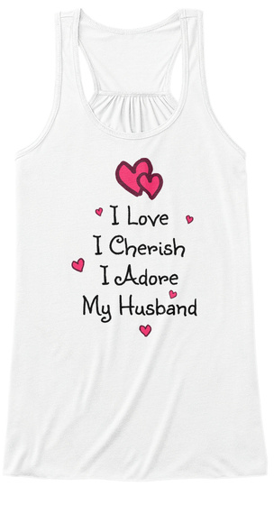 Valentines Day T Shirt For Her White Women's Tank Top Front