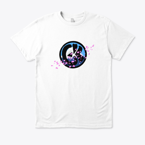 G&K Sakura Fuji White T-Shirt Front