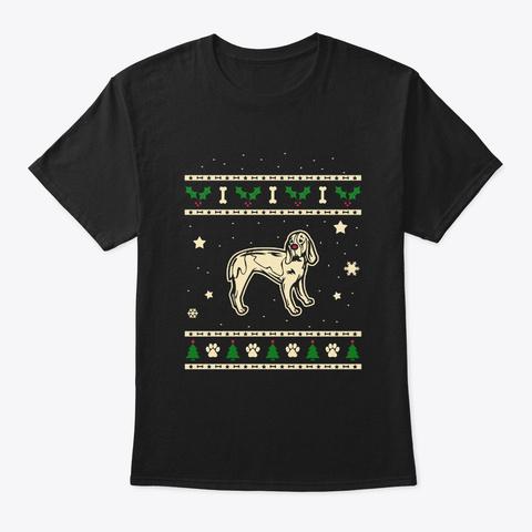 Christmas Artois Hound Gift Black T-Shirt Front
