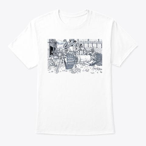 Agatha Battle Tank & Crew White T-Shirt Front