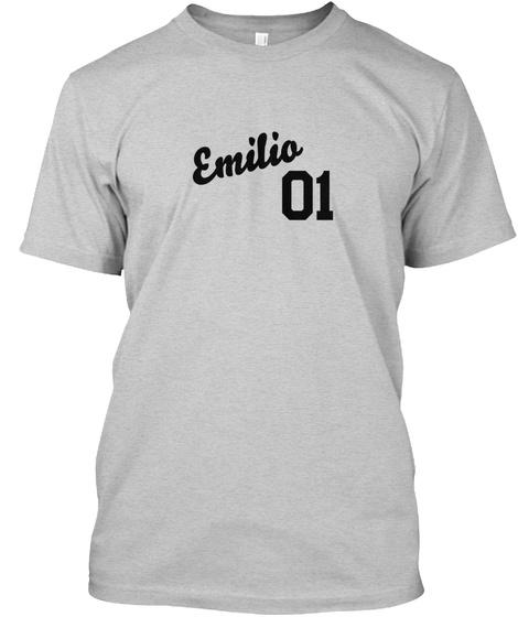 Emilio Varsity Legend Light Steel T-Shirt Front