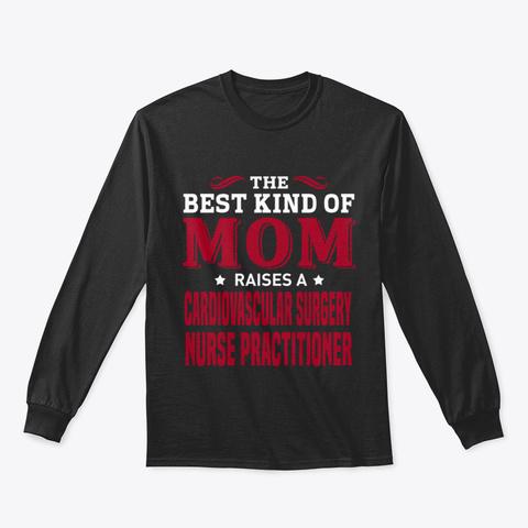 Cardiovascular Surgery Nurse Practitione Black T-Shirt Front