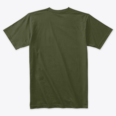 Dode Military Green T-Shirt Back