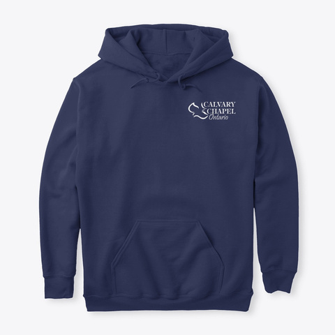 Classic Hoodie Navy T-Shirt Front