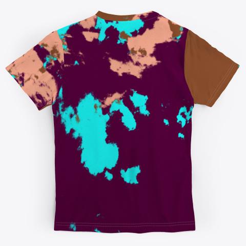 Hana   Camouflage Tie Dye Style Pattern Standard T-Shirt Back