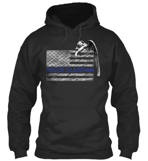 Rhode Island Police State Police Jet Black T-Shirt Front