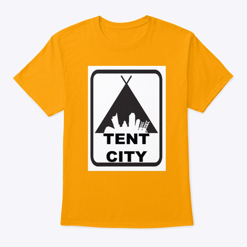 The Classic Tent City Tee Gold T-Shirt Front