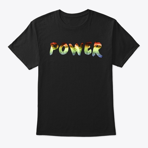 Power 3 Black T-Shirt Front