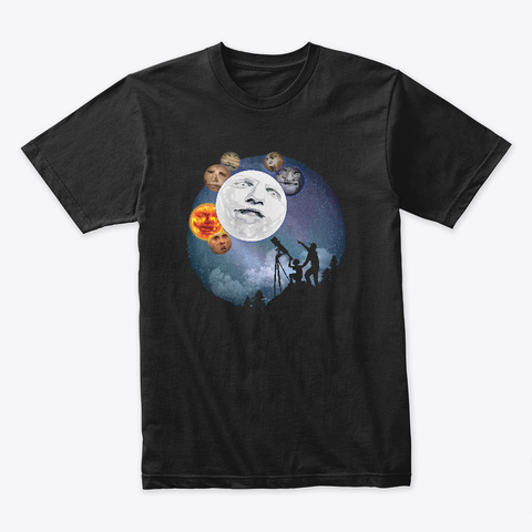 The Night Sky Black T-Shirt Front