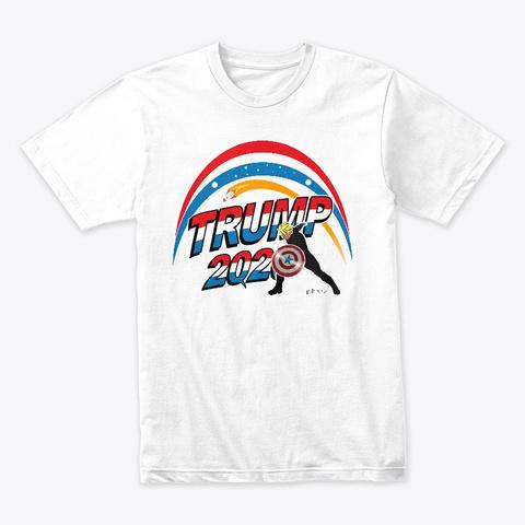Trump 2020 Q Army P Brane White T-Shirt Front