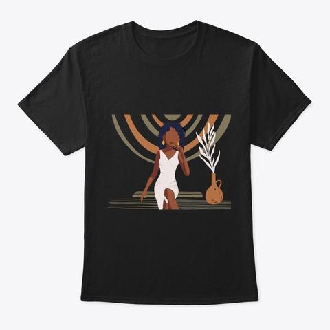 Love My Black Skin   Melanin Queen Black T-Shirt Front