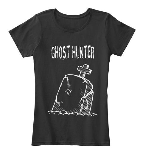 Ghost Hunter Black T-Shirt Front
