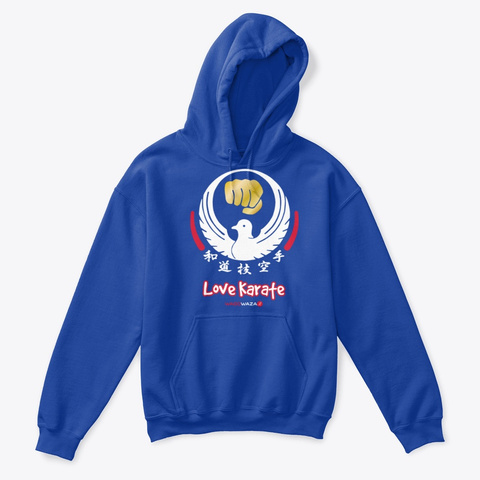 Love Karate For Kids Royal T-Shirt Front