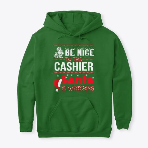 Cashier   Funny Christmas Cashier Hoodie Irish Green T-Shirt Front