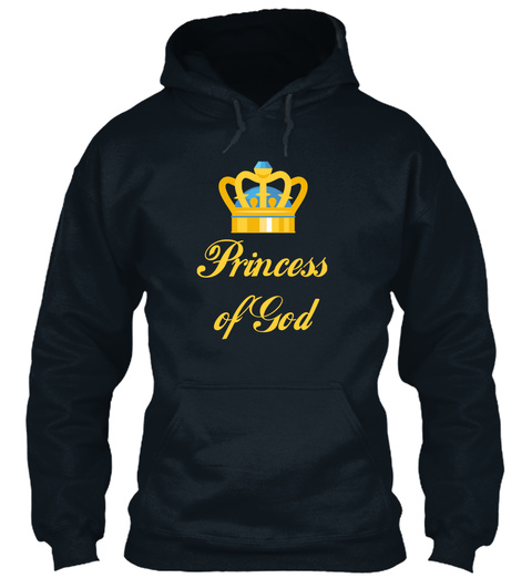 Princess  Of God French Navy Sweatshirt Front