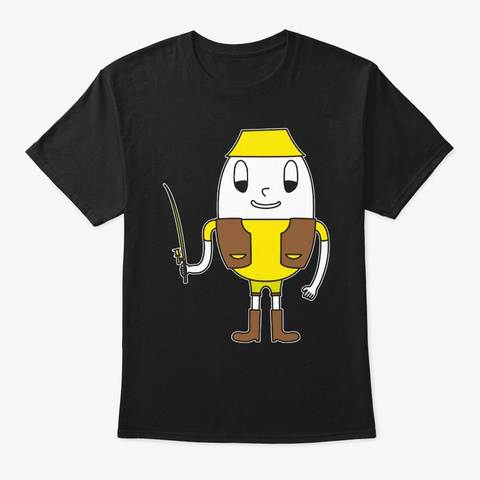 Egg Angler Black T-Shirt Front