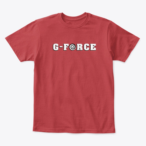 G Force   Kids Tee Classic Red T-Shirt Front