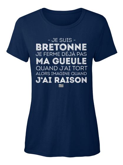 Je Suis Bretonne.  Navy T-Shirt Front