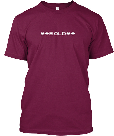 **Bold** And  Beautiful  Cranberry T-Shirt Front