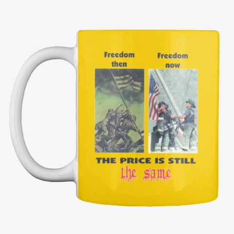 Freedom Then And Now Merchandise Lemon Yellow T-Shirt Front