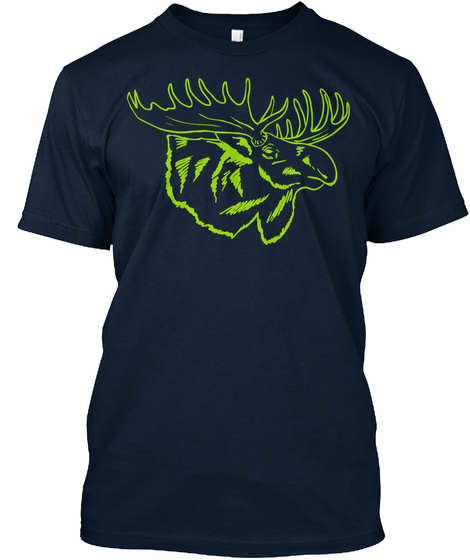 Howler Moose Tee New Navy T-Shirt Front