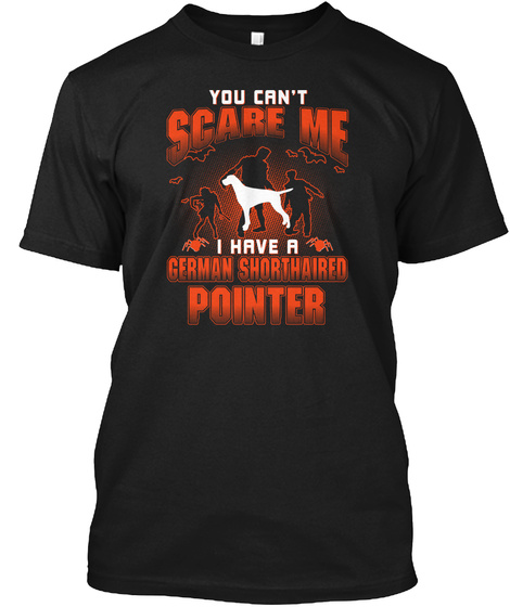 German Shorthaired Pointer Black T-Shirt Front