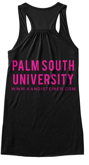 Palm South University Www.Kandisteiner.Com Black T-Shirt Back