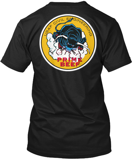 Usar Civil Engineering Prime Beef Black T-Shirt Back