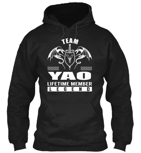 Team Yao Lifetime Member T Shirt Black T-Shirt Front