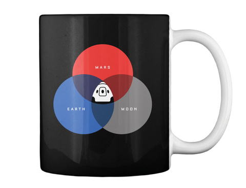 The Rgb Space Mug [Int] #Sfsf Black Taza Back