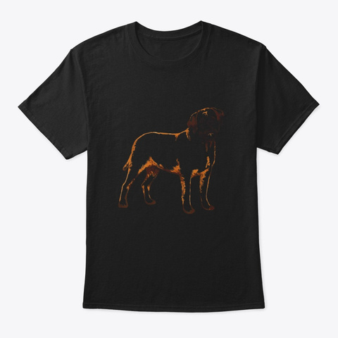 English Mastiff Dog Black T-Shirt Front
