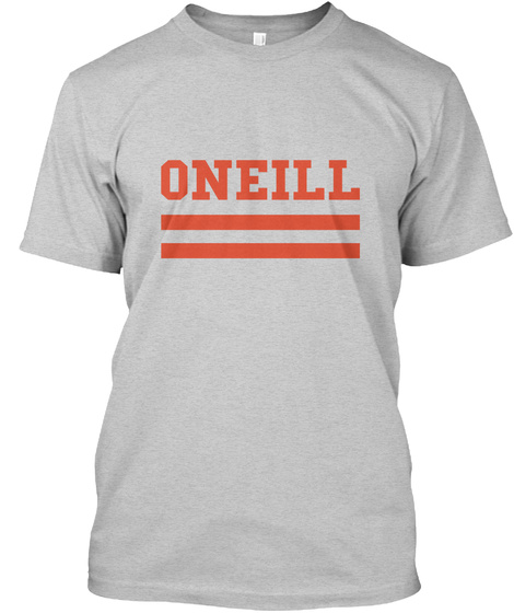 Oneill Family Flag Style Light Steel T-Shirt Front