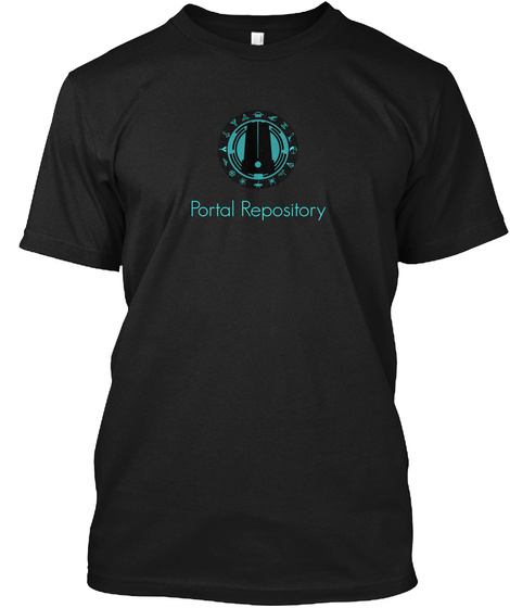 Portal Repository Black T-Shirt Front