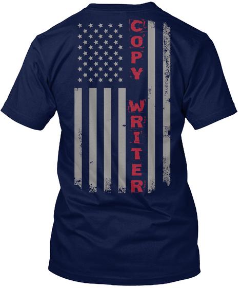Copy Writer American Flag Pride Unisex Tshirt