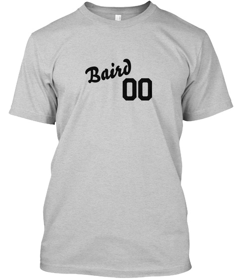 Baird Varsity Legend Light Steel T-Shirt Front
