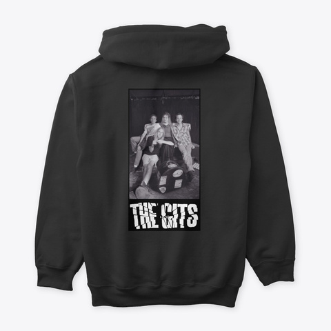 Gits Pull Over Hoodie Black T-Shirt Back