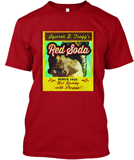 Laslo Films Merchandise Deep Red T-Shirt Front