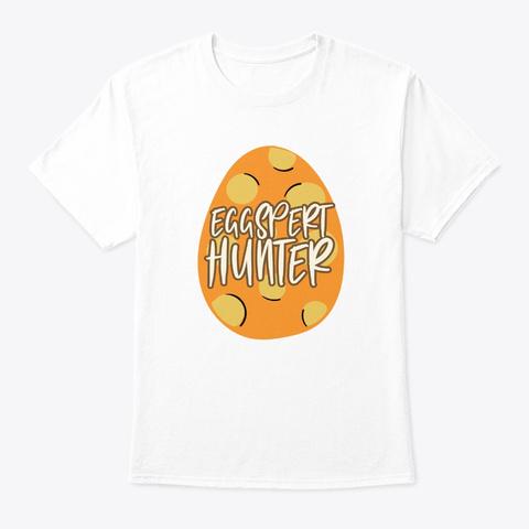 Easter Sunday Eggspert Hunter Cute Chris White T-Shirt Front