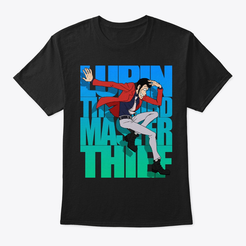 Lupin Iii   Master Thief   Part Ii Ver 2 Black T-Shirt Front