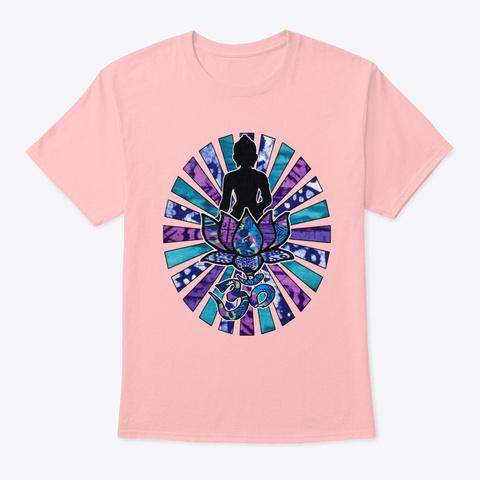 Buddha Sunrays Pale Pink T-Shirt Front
