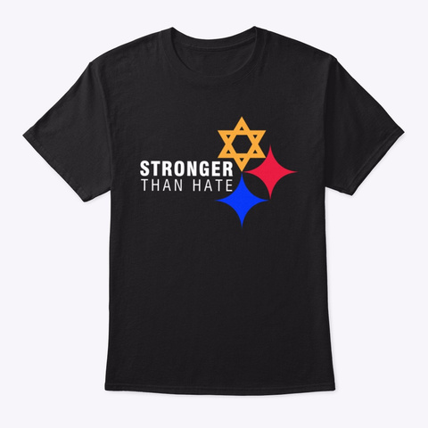 Stronger Than Hate United Support Black T-Shirt Front