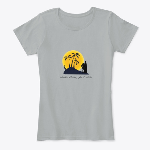 Noosa Main Australia Sunset Grey T-Shirt Front