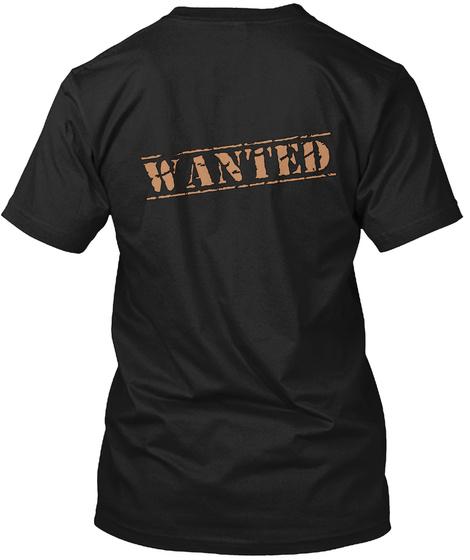 Wanted Black T-Shirt Back