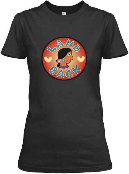 Land Back Black T-Shirt Front