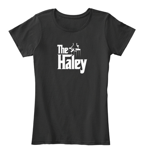 Haley The Family Tee Black T-Shirt Front